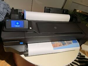 HP DesignJet T120 CQ891A A1 Large Format Printer 24' New Inks