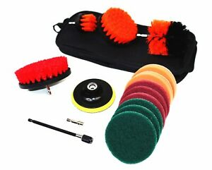 14 Piece Drill Scrub Brush and Scour OR Multi-Purpose Cleaning Kit - SHIPS FREE