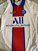 Nike PSG Paris Saint-Germain Vaporknit Match Away 2020-21 Jersey CD4188-101 XXL