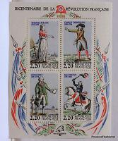88T5 FRANCE BLOC FEUILLET N° 10 bicentenaire de la revolution francaise 1989