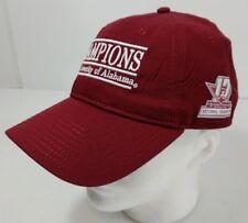 The Game Alabama Crimson Tide Hat Cap Adjustable Strap Back 2017 Champs Burgundy