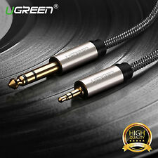 "Ugreen 6.35mm 1/4"" to 3.5mm 1/8"" Jack Male TRS Stereo Audio Cable for Guitar 1m"