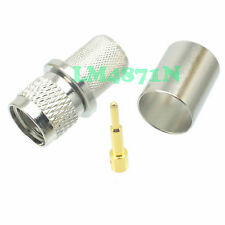 10pcs Connector mini.UHF male plug crimp RG8 RG213 RG165 LMR400 7D-FB cable