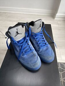Nike Air Jordan Electric Blue Uk9 Usa10 Eur44 Mens Boys Trainers Boots Suede