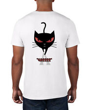 MEN'S 2-FACED BLACK CAT WITH HAPPY AND ANGRY FACES ON OPPOSITE SIDES