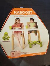 NEW Kaboost Booster Seat for Dining Green Goes Under the Chair Portable Chair