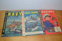 Vintage THE WORLD AROUND US COMIC BOOK Lot Story Of NAVY MARINES 1959
