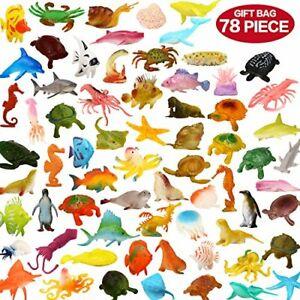 50pc Ocean Sea Animals Life Creatures Toys Set Plastic Underwater  Learning Toys