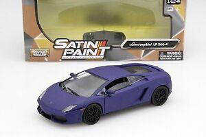 MOTORMAX LAMBORGHINI GALLARDO LP 560-4 1/24 DIECAST MODEL CAR MATTE BLUE 79504