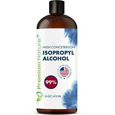 Isopropyl Alcohol 99% Antiseptic Pure Grade Sterilizer Cleaning Properties 16 OZ