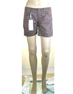 Pantaloni Corti Donna Shorts KAOS JEANS Pantaloncini SA758 Leopardati Tg 27