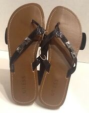 GUESS Authentic LIVIE New sandal / slippers / flip flops BLACK Women's Size 9M