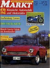 Markt 4/91 1991 Ascot Pullin Chevrolet Camaro DKW F102 Audi Fiat 124 NSU Prinz 4