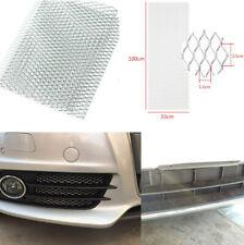 DIY 40''x 13'' Car Bumper Fender Hood Vent Silver Aluminum Grille Net 11 x 25mm