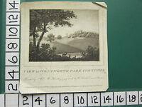 1789 Fecha Antigüedad Estampado ~ Vista En Wentworth Park Yorkshire