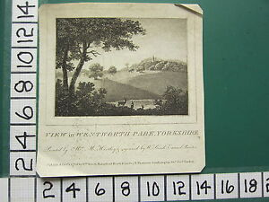1789 DATED ANTIQUE PRINT ~ VIEW IN WENTWORTH PARK YORKSHIRE