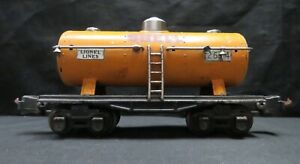 Vintage Lionel Corp #2654 Shell Tank Car, O Gauge, Nickel Trim, Not Tested