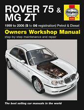HAYNES WORKSHOP REPAIR OWNERS MANUAL ROVER 75 MG ZT S TO 06 REG PETROL & DIESEL
