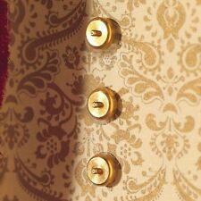 Dolls House Emporium Dolls House Accessory Brass Light Switches 10 pieces 3530 *