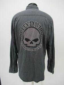 P5286 VTG Harley Davidson Men's Motorcycle Biker Spell-Out Shirt Size L