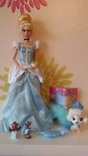 """** Disney Store CENERENTOLA CLASSIC 12"""" Bambola & PALACE PET Zucca"""