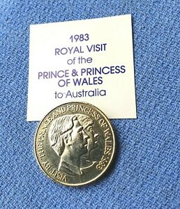 1983 ROYAL VISIT (ID 50) OF THE PRINCE & PRINCESS OF WALES TO AUSTRALIA COIN