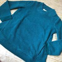 G-46 Denim & Co. Regular Chenille Fleece Tunic Crossover Neck DRK GREEN sz S pet