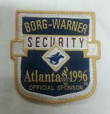 TOPPA PATCH AMERICANA BORG-WARNER SECURITY ATLANTA 1996 OFFICIAL SPONSOR GRANDE