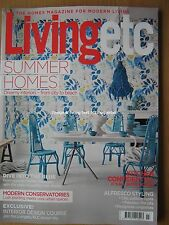 Living Etc July 2017 Summer Homes Modern Conservatories Sea Blue Shades Interior