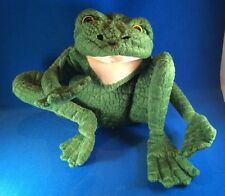 LONG LEGGED FROG Plush Folkmanis Full Body Hand Puppet 2010 tush tags only 15""