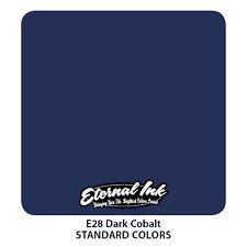 Genuine Eternal Tattoo Ink - Dark Cobalt - Expired But Brand New 2oz (60ml)