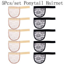 5Pcs Hair Net Making Ponytail Hairnet Adjustable Weaving Cap Glueless Wig .QE