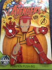 Marvel Avengers Iron Man 5 Piece Wooden Halloween Pumpkin Push In Set Outdoor De
