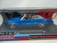 1:18 Maisto Pro Rodz 1971 Chevrolet Chevelle Ss 454 Convertible Bleu Rare $