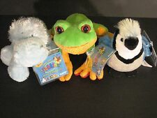 Webkinz 4 Animal Lot Tree Frog Lil Kinz Hippo Blue Jay White Terrier New NWT