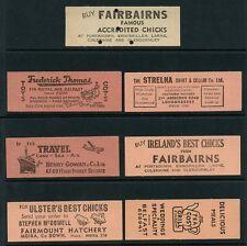 NORTHERN IRELAND c1960 ADVERTISING OMNIBUS TICKETS...7 ITEMS