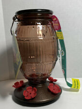 New Perky-Pet Prohibition Top-Fill Decorative Glass Hummingbird Feeder - 36 Oz.