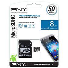 Scheda memoria microSD PNY 8 GB 50 Mb/s SDU8GBPER50-EF