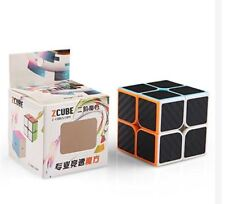Z-Cube 2x2x2 Carbon Fiber Sticker Speed Rubik's Magic Cube