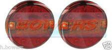2x 12v/24v LED Slim Slimline Flush Fit ROUND HAMBURGER POSTERIORE LUCI FANALI DI CODA