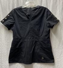 Jaanuu Black Size Large Scrub Top Style J90026