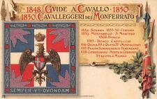A808) CAVALLERIA CAVALLEGGERI DEL MONFERRATO. BATTAGLIE DAL 1849 AL 1918.