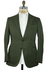 ISAIA Napoli Khaki Green Slim-Fit Two Button Suit 40 (EU 50) Handmade in Italy