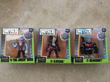 "3 NEW Jada Metals Suicide Squad 2.5"" Joker Boss M422 Katana M426 Deadshot M430"