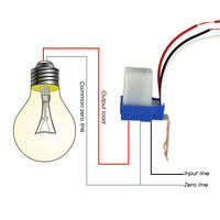 Waterproof AC 220V 10A Automatic Street Light Switch Photocell Photoswitch New
