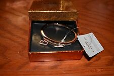 NWT Coach F90837 Boxed PG Pave Hinged Bangle - Gold