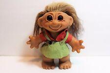 Vintage Troll Doll BIG Thomas Dam Original 8 inch Size 1960's Brown Hair