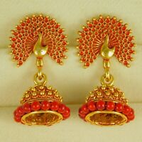 Traditional Bollywood Earrings Indian Theme peacock Drop Dangle Fashion Jewelry