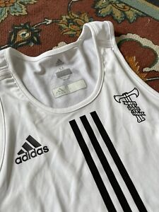 adidas tinman elite running tank singlet white mens medium