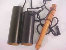 Holder for Laying Tool Solid Turned Light Wood Hand Crafted Wooden Black Cord